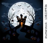 halloween night background with ... | Shutterstock .eps vector #138239936
