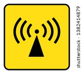 non ionizing radiation sign... | Shutterstock .eps vector #1382414879