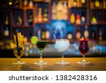 different alcohol cocktail... | Shutterstock . vector #1382428316