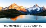 Bachalpsee Lake With Reflectio...