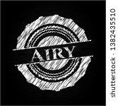 airy written with chalkboard... | Shutterstock .eps vector #1382435510