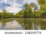 a river channel in the danube...   Shutterstock . vector #138245774