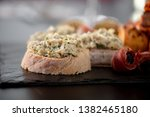 finger food on the stone... | Shutterstock . vector #1382465180