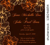 invitation or wedding card with ... | Shutterstock .eps vector #138246854