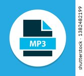 file mp3 icon colored symbol.... | Shutterstock .eps vector #1382482199