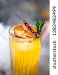 yellow cocktail standing on the ... | Shutterstock . vector #1382482499