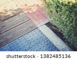 looking down at a corner of... | Shutterstock . vector #1382485136