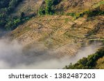 samaba rice terrace fields in... | Shutterstock . vector #1382487203