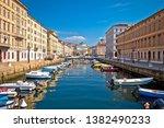 Small photo of Trieste channel and Ponte Rosso square view, city in Friuli Venezia Giulia region of Italy