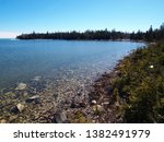 view on lake huron  michigan ... | Shutterstock . vector #1382491979