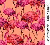 beautiful watercolor pattern... | Shutterstock . vector #1382513003