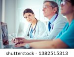 doctors consulting with each... | Shutterstock . vector #1382515313