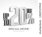 up to 20  off special offer... | Shutterstock .eps vector #1382515943