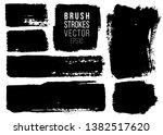 grunge painted spots set.... | Shutterstock .eps vector #1382517620