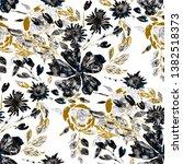 watercolor seamless pattern... | Shutterstock . vector #1382518373