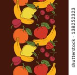 seamless of different fruits....   Shutterstock .eps vector #138252323
