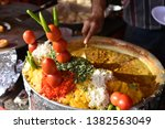 yummy indian street foods for... | Shutterstock . vector #1382563049