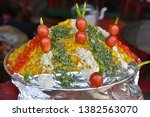 yummy indian street foods for... | Shutterstock . vector #1382563070