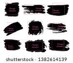 set of black paint  ink brush... | Shutterstock .eps vector #1382614139