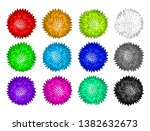 vector set of colorful pom poms.... | Shutterstock .eps vector #1382632673
