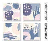a set of four square design... | Shutterstock .eps vector #1382660300