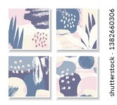 a set of four square design... | Shutterstock .eps vector #1382660306