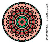 mandala decorative round... | Shutterstock .eps vector #1382686136