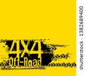 off road 4x4 hand drawn grunge...   Shutterstock . vector #1382689400