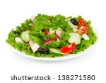 spring salad with fresh... | Shutterstock . vector #138271580