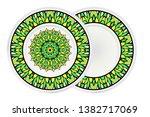Set Of Circle Floral Pattern...