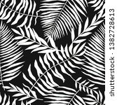 seamless pattern with tropical... | Shutterstock . vector #1382728613