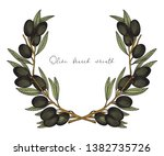 olive wreath. colorful vector... | Shutterstock .eps vector #1382735726