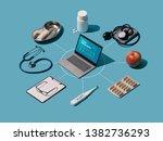 isometric healthcare... | Shutterstock . vector #1382736293