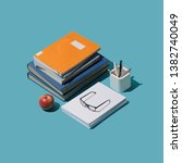 back to school isometric... | Shutterstock . vector #1382740049
