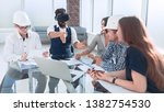businessman and design team... | Shutterstock . vector #1382754530