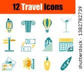 travel icon set. stencil in...