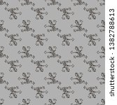 Seamless Frog Pattern Vector...