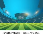 football arena field with... | Shutterstock .eps vector #1382797553