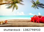 wooden old desk of free space... | Shutterstock . vector #1382798933