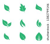 abstract leaf icon set isolated ... | Shutterstock .eps vector #1382799146