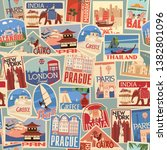 Set Of Travel Retro Labels And...
