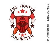 firefighter logo isolated on... | Shutterstock .eps vector #1382807513