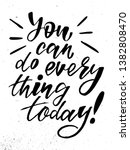 you can do everything today  ... | Shutterstock .eps vector #1382808470