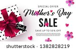 mother's day sale banner or... | Shutterstock .eps vector #1382828219