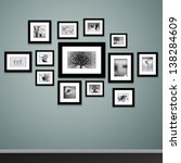 frames on wall. photo or... | Shutterstock .eps vector #138284609