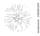 set of sunburst hand drawn...   Shutterstock .eps vector #1382851349