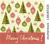 christmas and new year vector... | Shutterstock .eps vector #138285320