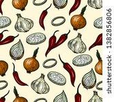 vector hand drawn seamless... | Shutterstock .eps vector #1382856806