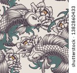 color seamless pattern on the... | Shutterstock .eps vector #1382860433
