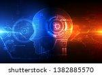 artificial intelligence. ai... | Shutterstock .eps vector #1382885570